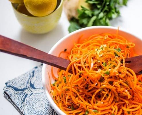Carrot salad spiralizer