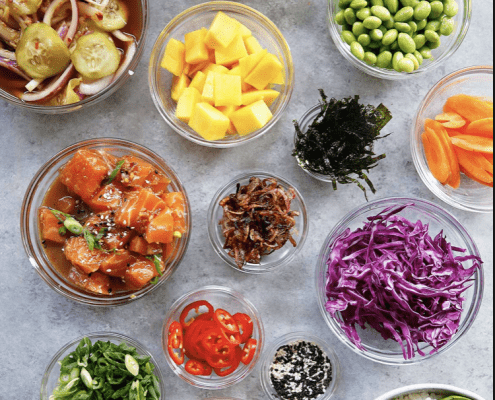 POKE bowls healthy